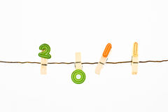 2011 cloth pegs theme Stock Image