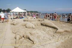 2011 Cobourg festiwalu Lipiec Ontario sandcastle zdjęcia royalty free