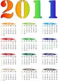 2011 Color Calender. 2011 Colorful Calender for New Year Royalty Free Stock Photo