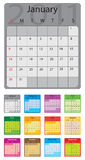 2011 colored calendar Stock Photos