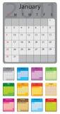 2011 colored calendar. Vector editable Vector Illustration