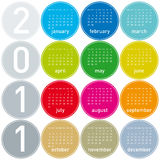2011 Colorful Calendar Stock Photo