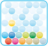 2011 Colorful Calendar. Colorful Calendar for year 2011 in a glossy circles theme. in  format Royalty Free Stock Photography