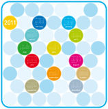 2011 Colorful Calendar. Colorful Calendar for year 2011 in a circles theme. in  format Royalty Free Stock Photo
