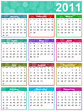 2011 colorful funny calendar. Illustration Royalty Free Stock Photo