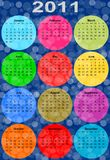 2011 colorful funny calendar Royalty Free Stock Images