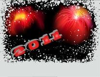 2011 com fogos-de-artifício Foto de Stock Royalty Free