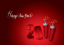 2011 crackers. 2011 happy new year celebration stock illustration