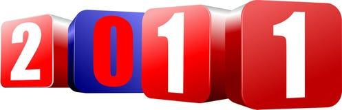 2011 cube calendar Royalty Free Stock Photo