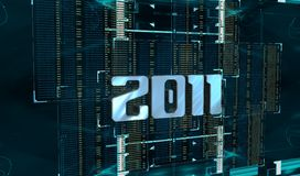2011 cyber year. The 2011 cyber new year Stock Photography