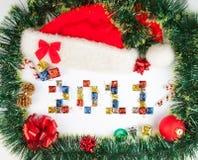 2011 de achtergrond van Kerstmis Stock Fotografie