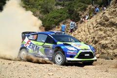 2011 de Akropolis van de Verzameling WRC - de Fiesta RS van de Doorwaadbare plaats Royalty-vrije Stock Afbeelding
