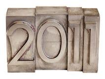 2011 - de blokken van de metaaldruk Stock Afbeelding