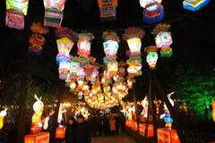 2011 de Chinese Markt van de Tempel van het Nieuwjaar in chengdu Stock Foto