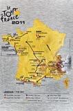 2011 de France mapy wycieczka turysyczna Obraz Stock