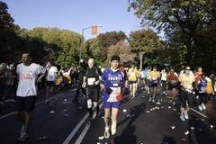 2011 de Marathon van de Stad van New York - Central Park Stock Foto's