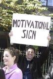 2011 de Marathon van de Stad van New York - Grappig Teken Stock Foto