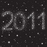 2011 des étoiles dans le ciel de nuit illustration libre de droits