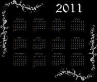 2011 Diamonds calendar. Vector poster. Royalty Free Stock Photos