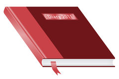 2011 Diary burgundy and red Royalty Free Stock Photography