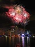 2011 dzień pokazu fajerwerku krajowa parada Obrazy Stock