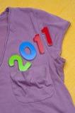 2011 em um bolso da camisa Fotos de Stock Royalty Free