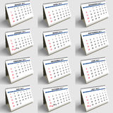 2011 English. Set of 2011 calendar sheets in english. Very high resolution Stock Photography
