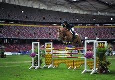 2011 Equestrian Pekín Prix magnífico internacional Imagen de archivo