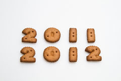 2011 et 2012 par Biscuits Image stock