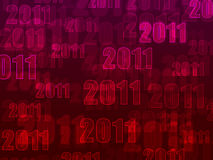 2011 event background. Pink and red 2011 background Royalty Free Illustration