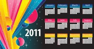 2011 färgrika moderna för kalender Royaltyfri Foto