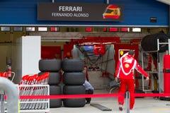 2011 F1 grande Prix turco Fotografie Stock Libere da Diritti