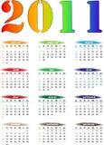 2011 Farben-Kalender Lizenzfreies Stockfoto