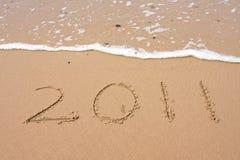 2011 felice - Nuovo anno felice Fotografia Stock Libera da Diritti