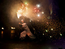 2011 fest пожар kiev Стоковая Фотография