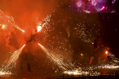 2011 fest пожар kiev Стоковые Фотографии RF