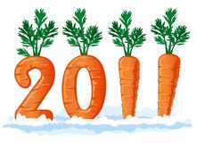 2011 figures from the carrots Stock Photo