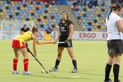 2011 filiżanka europejski Germany hokejowy Spain v Zdjęcie Stock