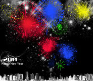 2011 firework poster Royalty Free Stock Photography