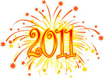2011_fireworks Stock Images