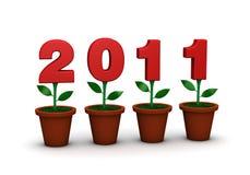 2011 flores stock de ilustración