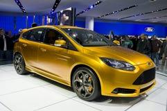 2011 Ford Focus bij NAIAS Royalty-vrije Stock Foto's