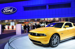 2011 Ford Mustang 5.0. The new 2011 Ford Mustang with the all new 5.0 Liter engine in a new color at the North American International Auto Show (NAIAS) in Stock Images