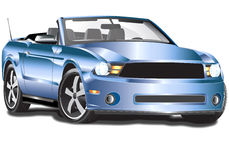 2011 Ford Mustang Convertible. This illustration could have many uses such a magazines, ads and other media. Could be used to advertise repair shops, body shops stock illustration