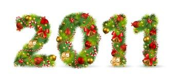 2011, fuente del árbol de navidad Foto de archivo libre de regalías