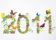 2011 fundos florais ilustração royalty free