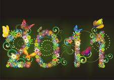 2011 fundos florais ilustração stock