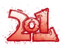 2011 funny red logo Stock Image