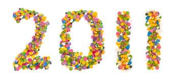 2011 gemaakt van confettien Stock Afbeeldingen