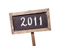 2011 geschreven op een bord Stock Afbeelding